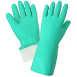 Nitrile Flocklined Gloves, Large. 12 Pairs