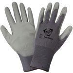 <strong>PUG13</strong> Gray Polyurethane / 13-Gauge Gray Nylon Gloves, <strong>Extra Small.</strong> 12/Pair/Pkg