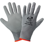 <strong>PUG13</strong> Gray Polyurethane / 13-Gauge <strong>Touch Screen Compatible Nylon Gloves.</strong> Small. 12/Pair/Pkg