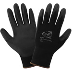 <strong>PUG17</strong> Gloves Black Nylon, Black Polyurethane Coated Palm. <strong> Extra Small.</strong> 12 Pair/Pkg