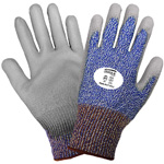 Samurai Gloves, Tuffalene Brand UHMWPE Liner, Gray Polyurethane Dipped Palm, ANSI Cut Level A4, XS, 12 Pair/Pkg