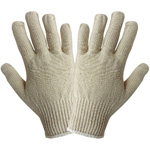 Natural Poly/Cotton String Knit Gloves, Mens Large. 12 Pair/Pkg