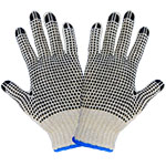 Natural String Knit 2-Sided PVC Dotted Gloves, Womens 12 Pair/Pkg