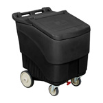 ConServ Ice Bin, 125 lb Capacity. Black