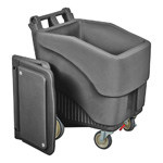ConServ Ice Bin, 125 lb Capacity. Grey