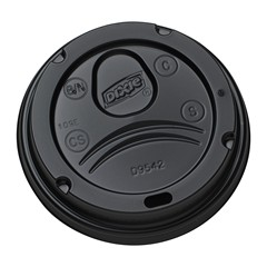 Dixie® Black Dome Sip Lids for 10,12,16,20 oz PerfecTouch® Cups 1000/Cs