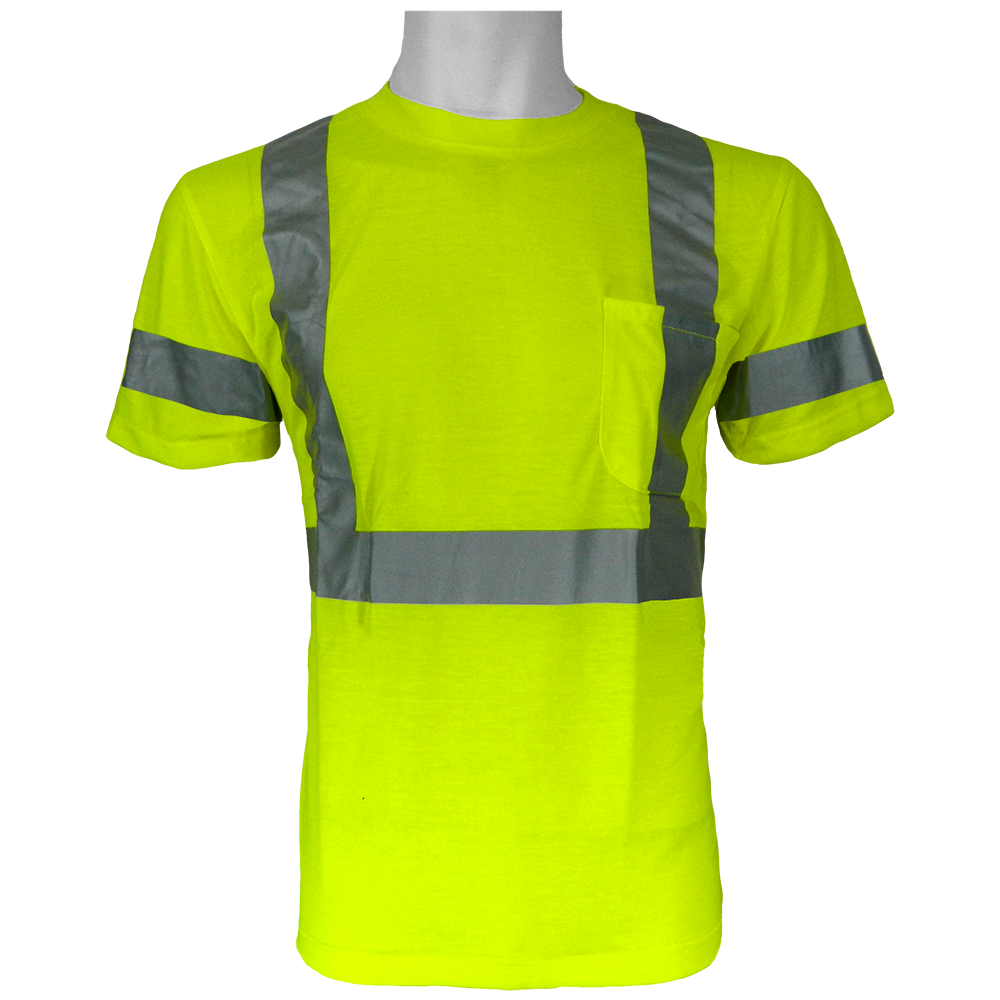 Frogwear - Ansi Class 3 Self Wicking Polyester Short Sleeve Shirt, 3m Scotchlite Reflective Material