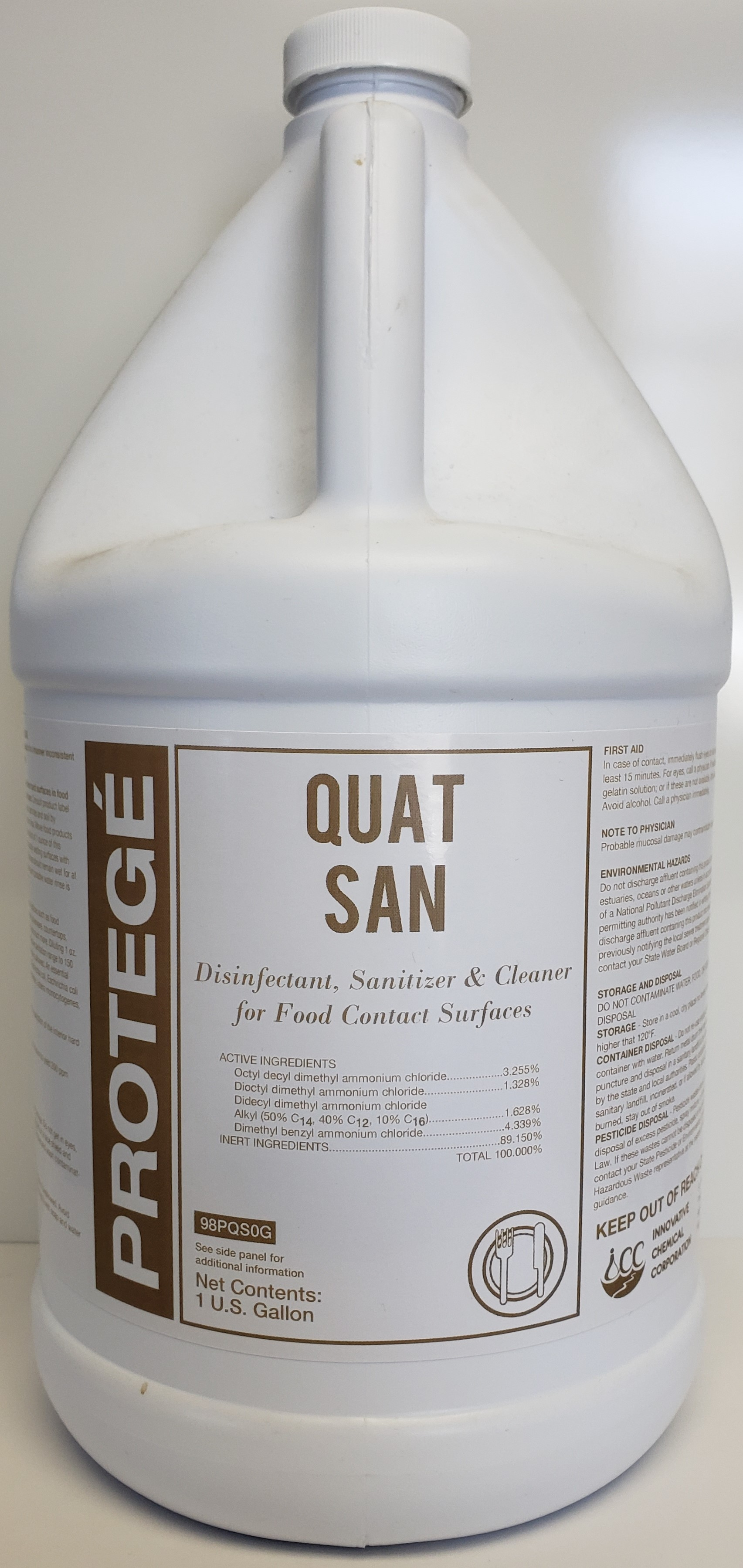 Protege QuatSan No Rinse Sanitizer. 1 Gallon