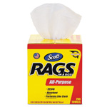 "Scott® All-Purpose Rags in a Box, 10"" x 12"", White, 200/Cs"