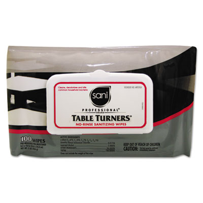 Table Turners® No-Rinse Sanitizing Wipes,  9/Cs. </br> <strong>On Sale: $57.00</strong>