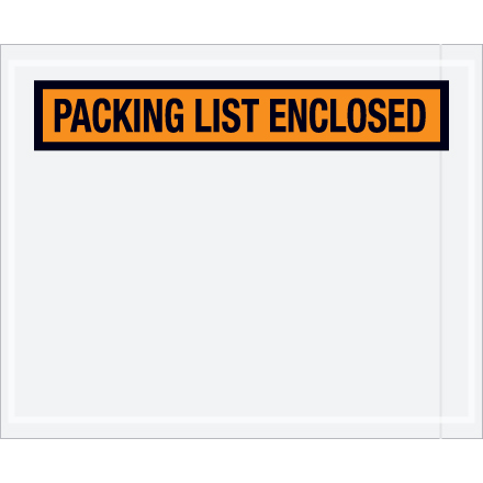 "4-1/2"" x 5-1/2"" ""Packing List Enclosed"""