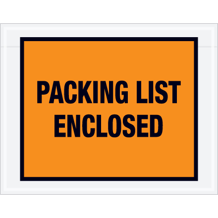 "7.0"" x 5.5"" ""Packing List Enclosed"""