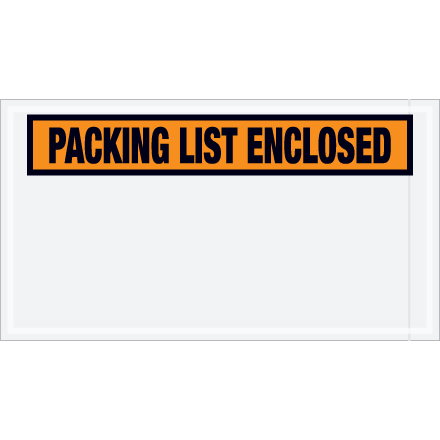 "5.5"" x 10.0"" ""Packing List Enclosed"""
