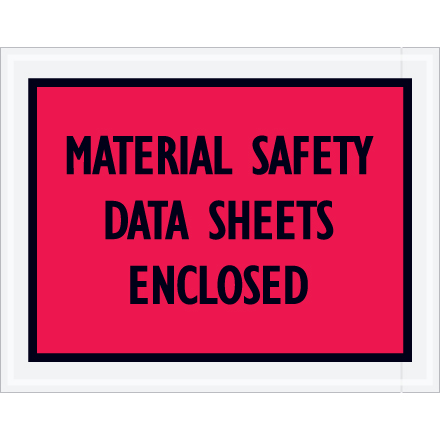 "7.0"" x 5.5"" ""Material Safety Data Sheet Enclosed"""