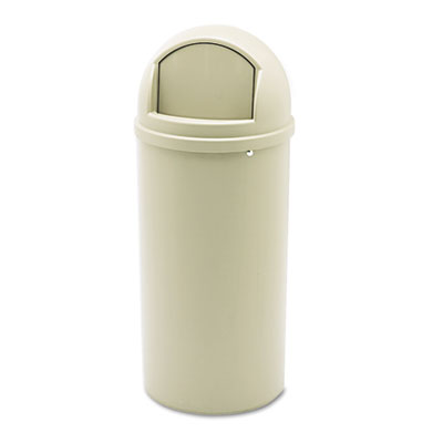 Marshal® Classic Container. 15 Gallon. Beige. 1/Ea