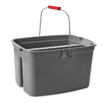Rubbermaid® Commercial Double Utility Pail, 17qt, Gray 1/Ea