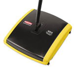 "Dual Action Carpet Sweeper. 7.5"" Sweep Path. Black. 1/Ea"