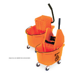 35 Qt. Down Press Mop Bucket / Wringer Combo. 1/Ea