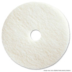 "19"" White Polishing Floor Pad. 5/Cs"