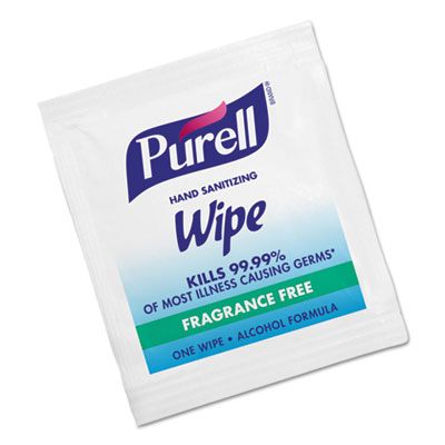 Purell Sanitizing Hand Wipes, individually packaged. 1000/Cs