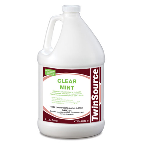 TwinSource Clear Mint Disinfectant. 1 Gallon