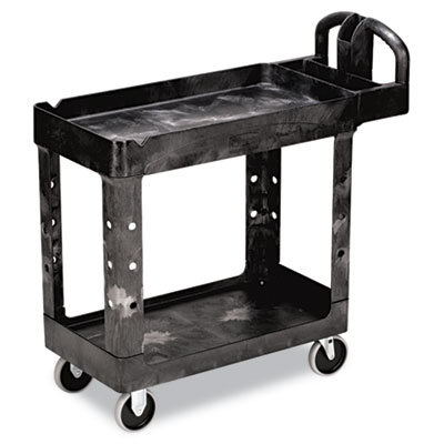 "Heavy Duty Service/Utility Cart. 17-7/8""W x 39-1/4""D. Black 1/Ea"