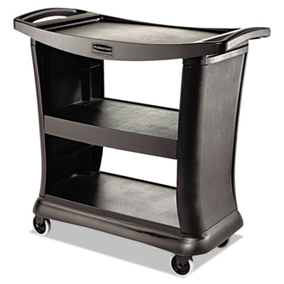 Executive Service Cart. Black. 1/Ea