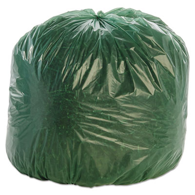"49"" x 74"" Green Low Density Liner 1.5 Mil 50/Cs"