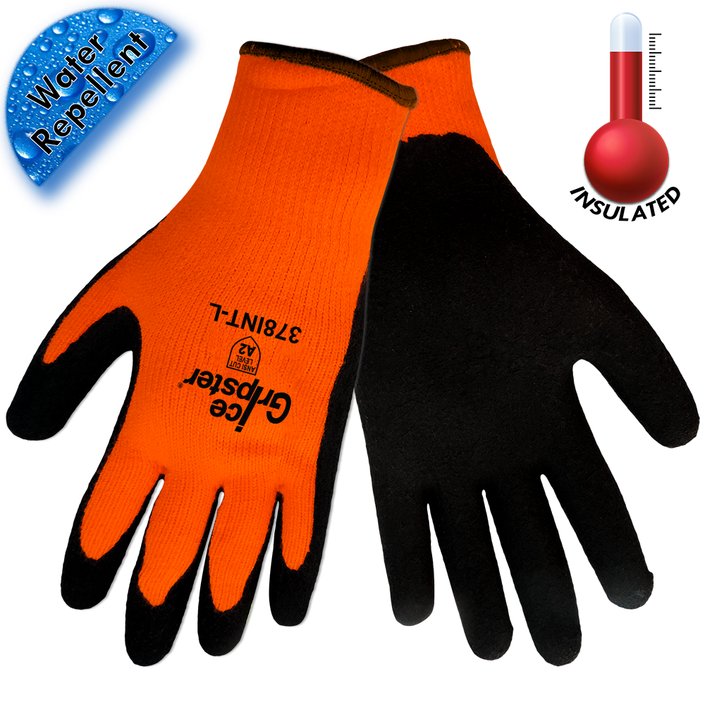 Ice Gripster® Foam Black Rubber Gloves. Small. 1/Pair