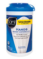 Sani-Hands® Hand Sanitizing Wipes. 300/Canister. 6/Cs.