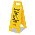 Folding Safety Floor Sign. Closed, multilingual. 1/Ea