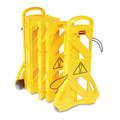 Portable Mobile Safety Barrier. 1/Ea