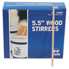 "5-1/2"" Wooden Coffee Stirrer. 10,000/Cs"