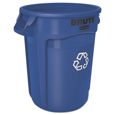 Brute® Round Recycling Container. 32 Gallon. 1/Ea