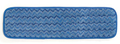 "Rubbermaid® Commercial 18"" Microfiber Damp Mop, Blue Binding. 12/Pk"