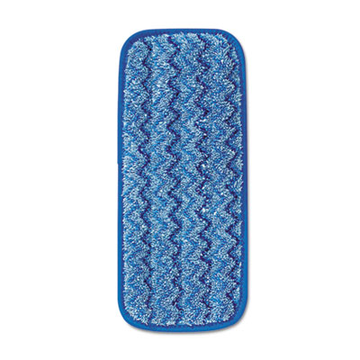 "Rubbermaid 11"" Microfiber Wall/Stair Wet Mopping Pad, Blue, 6/Cs"
