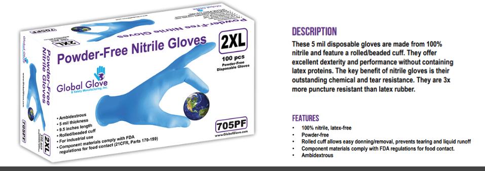 5 Mil Nitrile Gloves
